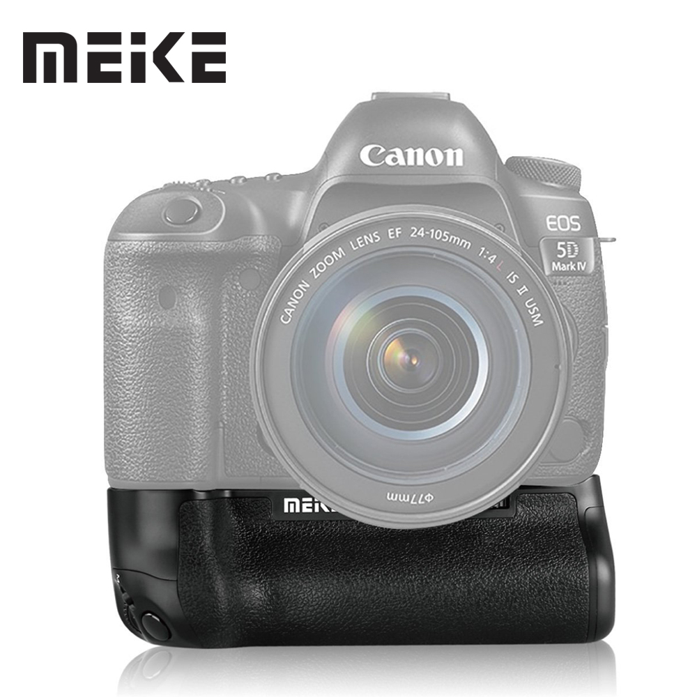 Meike MK-5D4 Vertical Battery Grip for Canon EOS 5D mark IV as BG-E20 Compatible Camera  works with LP-E6 or LP-E6N Battery ismartdigi lp e6 7 4v 1800mah lithium battery for canon eos 60d eos 5d mark ii eos 7d