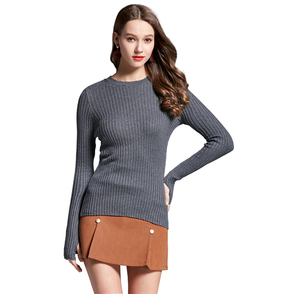Sweaters Hee Grand Sexy Hollow Out Turtleneck Sweaters Spring 2019 Long Sleeve Short Pullovers Autumn Women Lace-up Crop Tops Wzl1498
