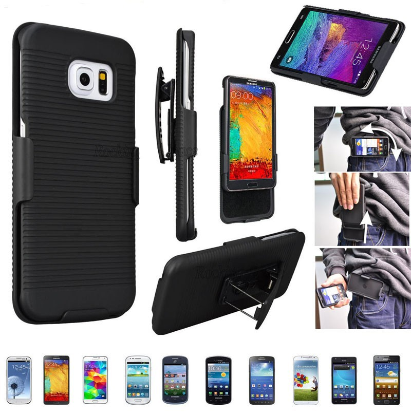 Phone Bags & Cases Running Belt Clip Case Shell Holster Combo Case Stand Cover For Samsung Galaxy S8 S8 S7 S6 Edge Plus S5 S4 Note8 Note 5 4 Note3 Cellphones & Telecommunications