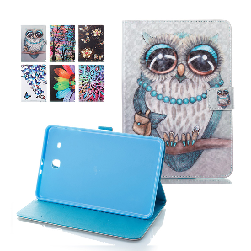 For Samsung Galaxy Tab E 9.6 T560 SM-T560 PU Leather Tablet Pad PC Protective Case Flip Cover For Samsung Galaxy Tab E T561 for coque samsung galaxy tab e 9 6 case wave flower flip folio pu leather wallet cover case for galaxy tab e 9 6 t560 t561