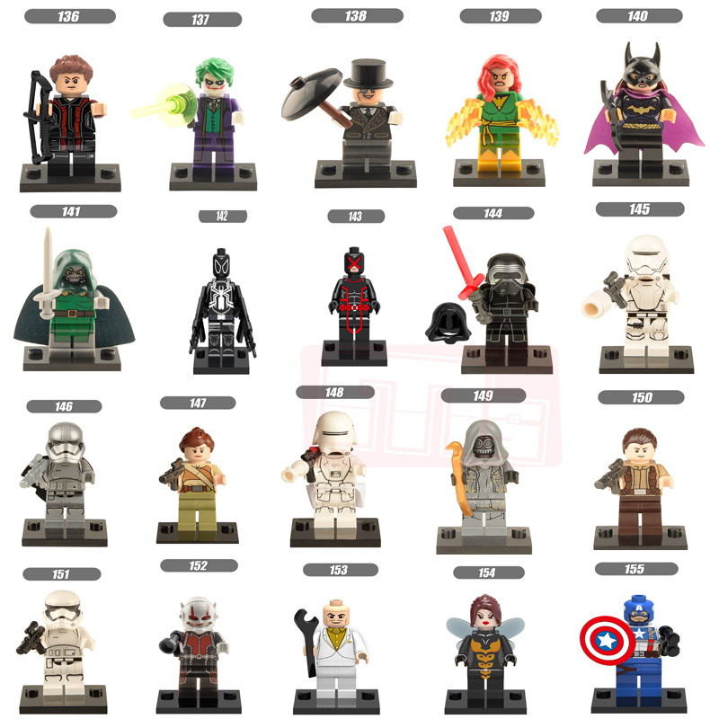 Single Sale Marvel DC Super Heroes Avengers Alliance toys Mini Model Building Blocks DIY Star Wars Action figures Toys gift холодильник lg gr d24fbglb черный