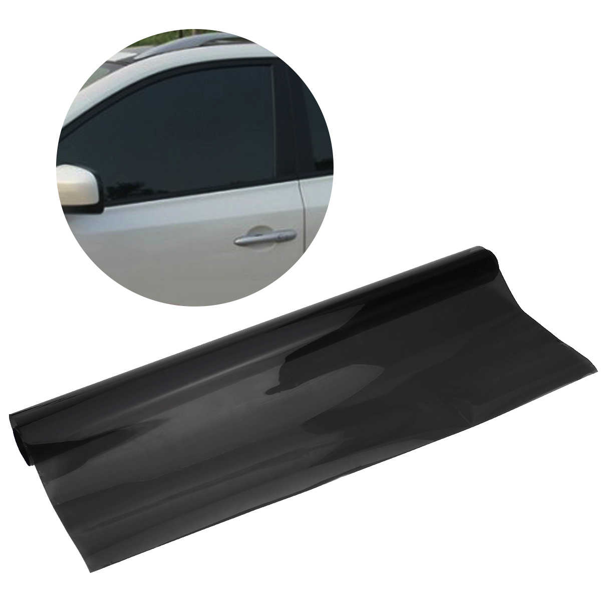 75cmx6M Car Van Window Tint Film Universal Fit for Privacy Sun Glare Heat Reduction