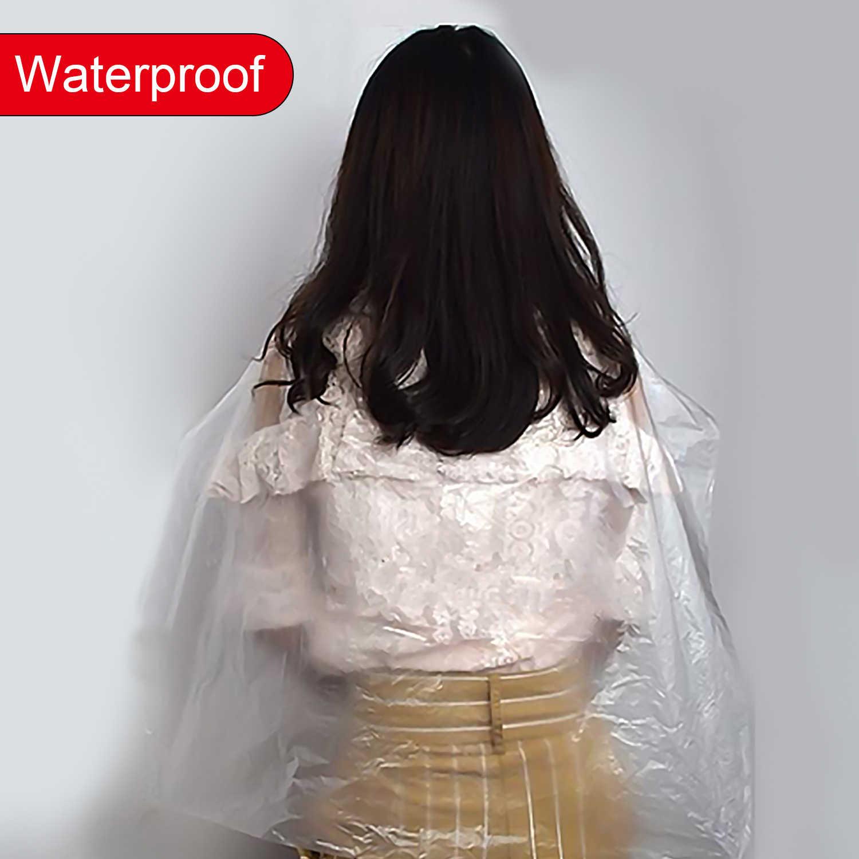 2 стиля одноразовая накидка для стрижки волос водонепроницаемый пластиковый салон одноразовый для окрашивания волос накидка для стрижки волос аксессуар для стрижки волос