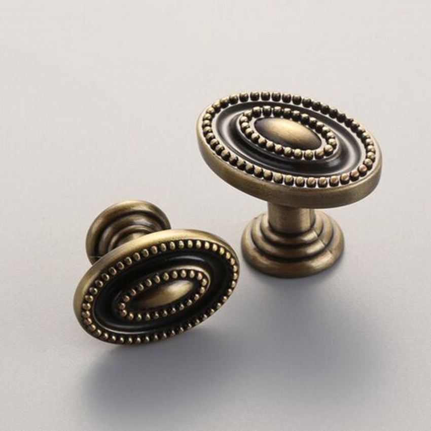 Vintage Style Dresser Pulls Knobs Bronze Drawer Cabinet