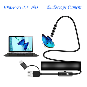 Image 2 - Endoscope HD 1080P Type C/USB Borescope Tube Waterproof Inspection Endoscope Camera With Led Light For Android Phone PC Tablet