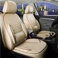 Ajuste personalizado conjunto tampa de assento do carro para a Peugeot 607 tampas de assento para carros almofada almofada do assento de couro PU suporta front & rear assentos