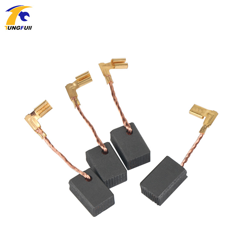 TUNGFULL 4Pcs Mini Drill Electric Grinder Replacement Carbon Brushes 6*9*13.5mm Spare Parts For Electric Motors Rotary Parts