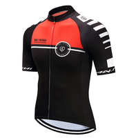Men Summer Cycling Jersey Red Matches Black Bike Riding Clothing Sport Short Sleeve Riding Jerseys Customized/Wholesale Service
