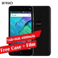 Grosse Batterie 4000 mAh Smartphone Original IPRO Plus 5.0 Débloqué Cellulaire téléphone 5.0 pouce 1 GB RAM 8 GB ROM Quad Core Mobile téléphone