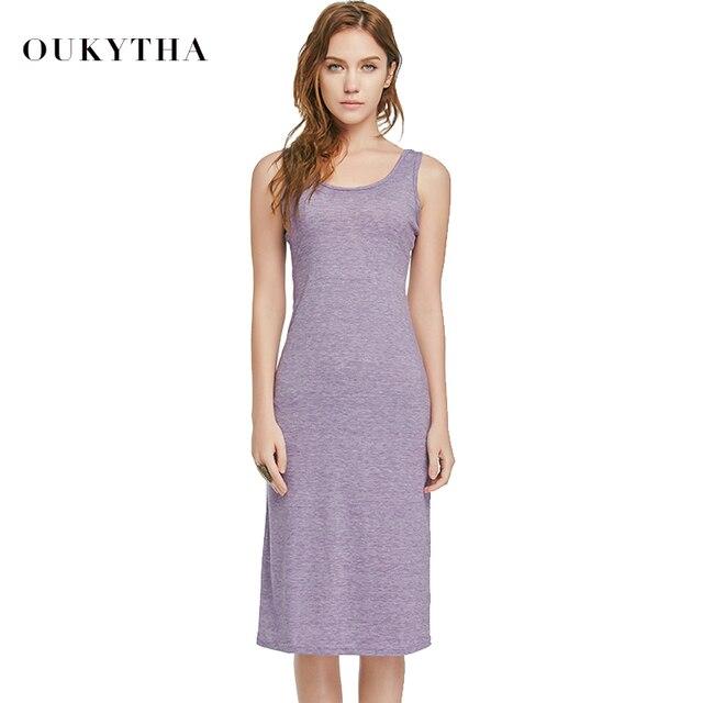 514b261ddd Aliexpress.com : Buy Oukytha 2018 Summer Style Long Dress Women Sexy Casual  Vest Sleeveless Maxi Dress korean Fashion bodycon dress 3 Colors Q15210 ...