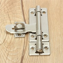 MTGATHER 4 Inch Stainless Steel Hardware Door Lock Barrel Bolt Latch Padlock Clasp Set Brushed Stainless Steel