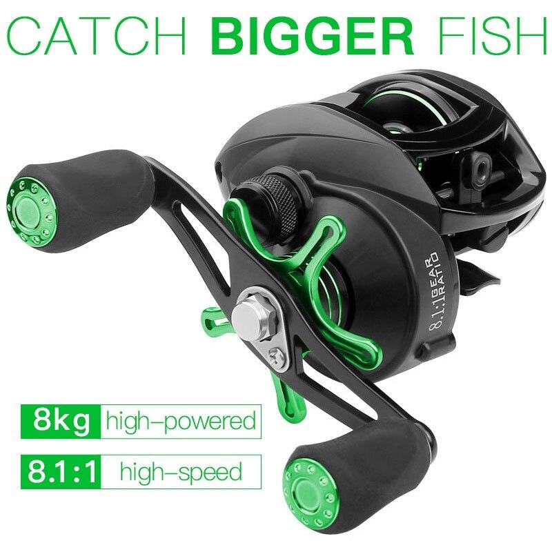 Canne à pêche roue dégoulinant pêche poisson bobine Durable noir vert CNC coupe fil métal route mer pêche roche