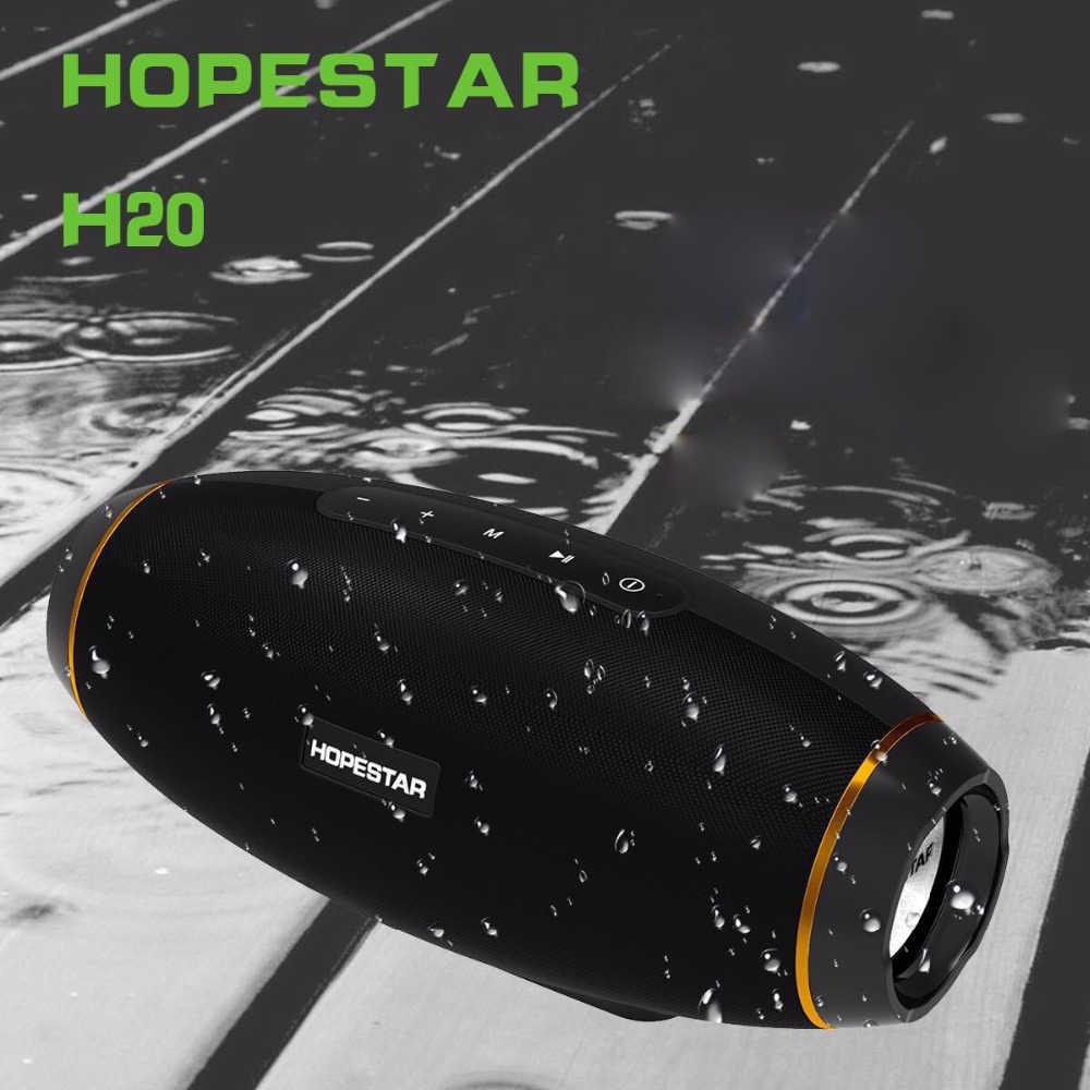 Haut-parleur Bluetooth HOPESTAR haut-parleur sans fil Super basse haut-parleur Subwoofer haute qualité forme de Rugby pour téléphone tablette ordinateur PC