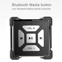 Los medios de comunicación bluetooth de música botón ajuste remoto de volumen para samsung xiaomi android para bicicleta mango de control remoto del volante del coche