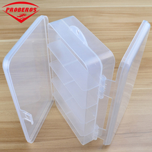Multifunctional Fishing Lure Tackle Hooks Spoons Storage Box Transparent Plastic Gear Accessories