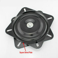 HQ SS06 6Inch(150MM) Black Lacquer Baked and Solid Steel Ball Bearing Swivel Plate, Turn Plate, Swivel Turntable