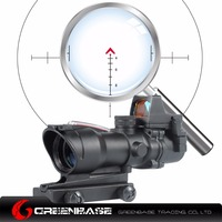 Greenbase ACOG Style Wide Field Of View GB 01NSN 4X32 Scope With RM Red Dot Black