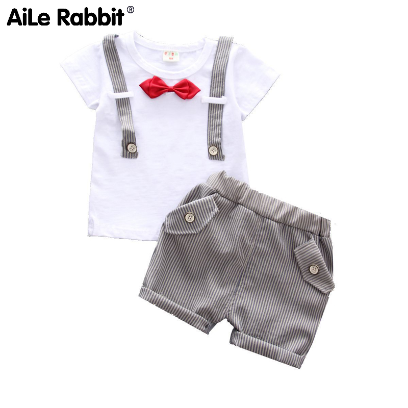 AiLe Rabbit Short sleeve suit for boys in the summer of 2019