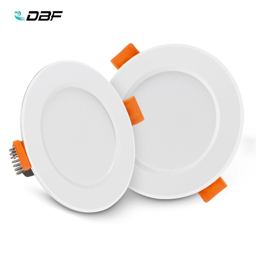 [DBF] Ultra Dünne Runde 2-in-1 SMD 2835 LED Downlight 3W 5W 7W 9W 12W Aluminium AC220V Fahrer LED Decken Einbau Spot Licht