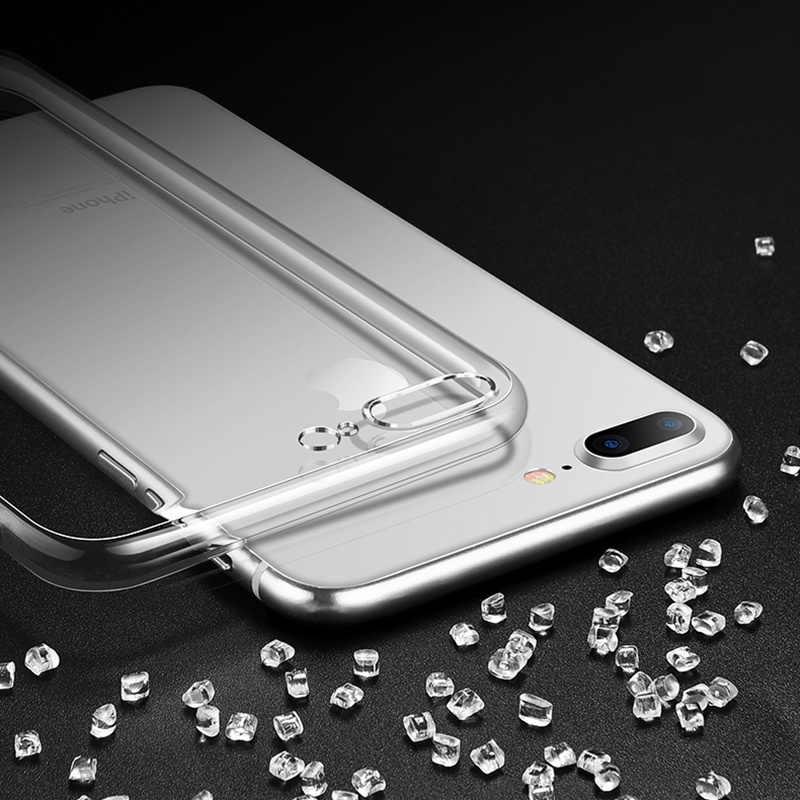 Clear Silicon Soft TPU Case Voor 7 7Plus 8 8Plus X XS MAX Transparante Telefoon Case Voor iPhone XR 5 5s SE 6 6s 6Plus 6sPlus