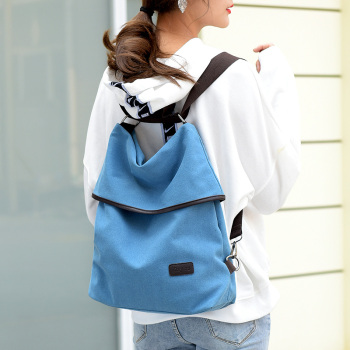 Fashion Women Backpack Simple Canvas Backpack Large Capacity Bookbag Waterproof Anti Theft Travel Backpack Mochilas Mujer 2018