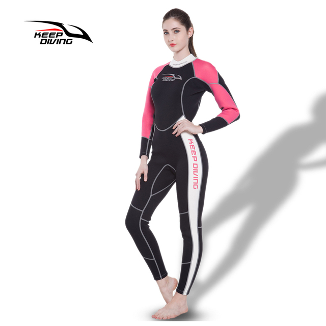 eb161e1c11 KEEP DIVING Womens 3MM Neoprene One-Piece Scuba Dive Wet Suit Wetsuits for  Winter Swim Surfing Snorkeling Spearfishing Equipment