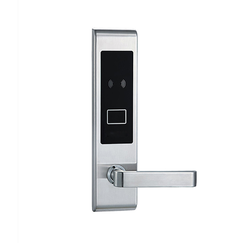 Electronic RFID Card Door Lock with Key Electric Lock For Home Hotel Apartment Office Smart Entry lk830BS access control lock metal mute electric lock rfid security door lock em lock with rfid key card reader for apartment hot sale