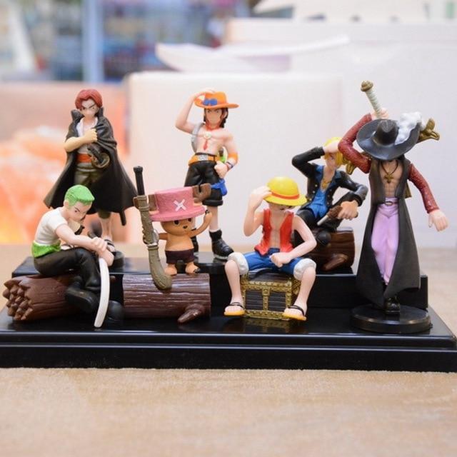 One Piece Luffy Zoro Mihawk Ace Sanji Shanks Chopper PVC Action Figure Toys  Dolls 7pcs  cb9dcbc96566