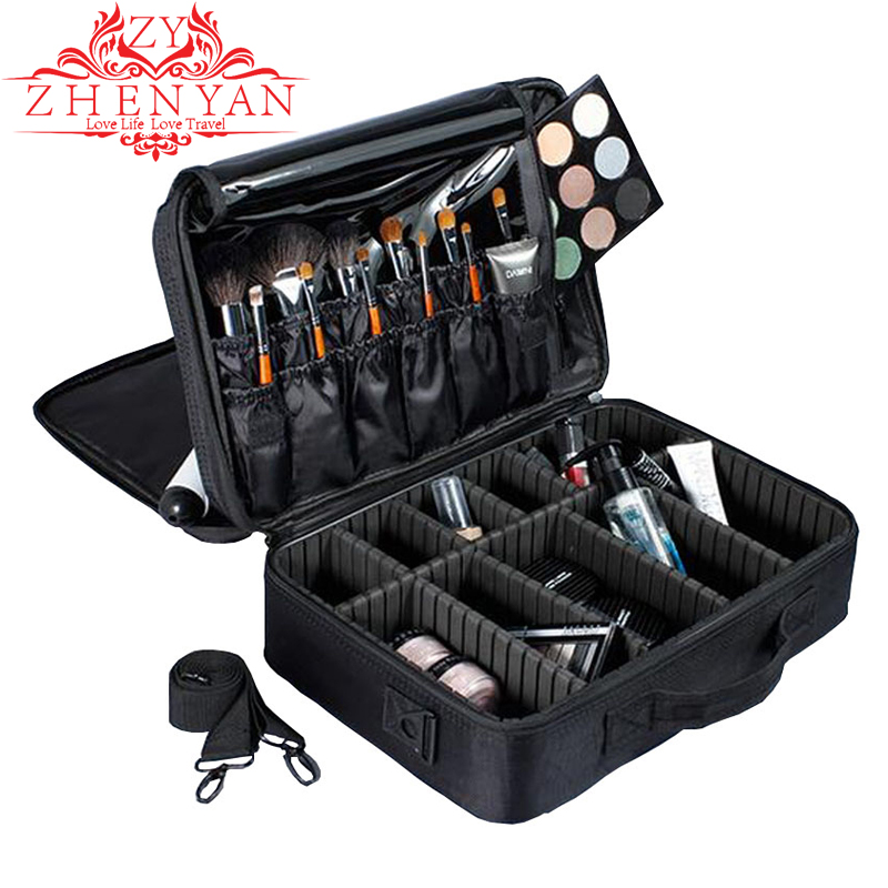 Professional Makeup Organizer Travel Cosmetic Case High capacity Female Make Up Box Bolso Mujer Good Toiletry