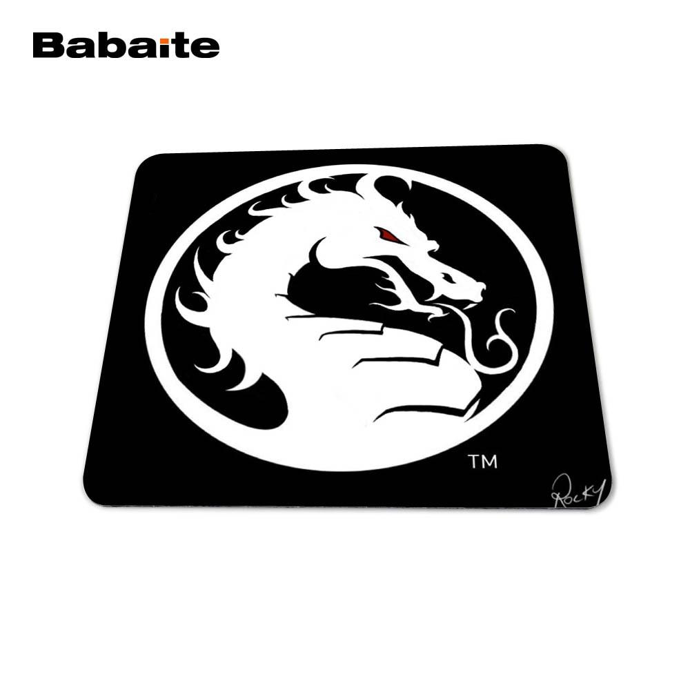 Babaite New 2017 Mortal Kombat Logo Mouse Pad Laptop - Համակարգչային արտաքին սարքեր - Լուսանկար 6