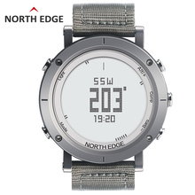 NORTH EDGE Men's Sport Digital Watch Hours Running Swimming Watches Altimeter Barometer Compass Thermometer Weather Pedometer