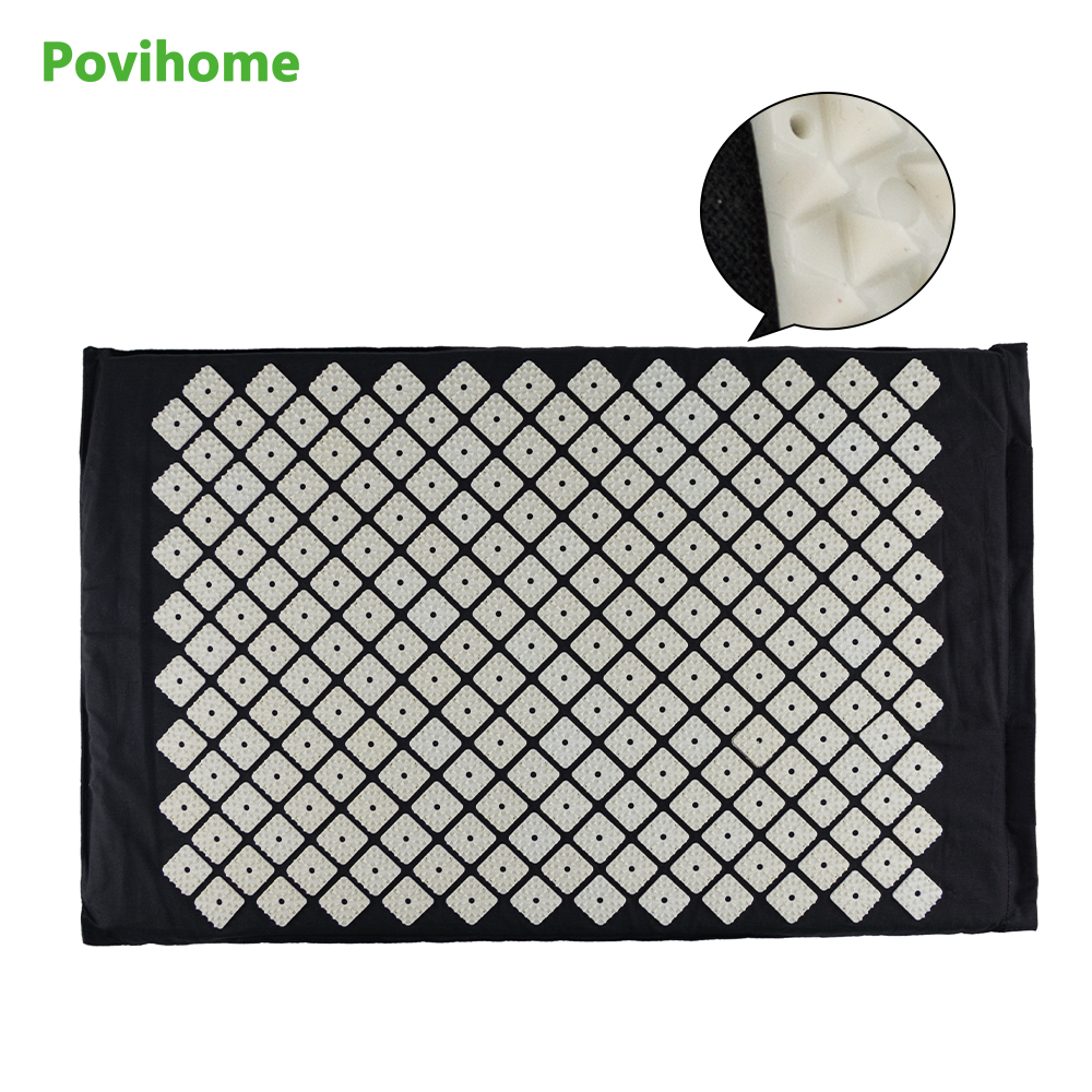 Povihome Chinese Acupressure Therapy Cushion Massage Mat Set Relieve Stress Pain Acupuncture Spike Yoga Mat Health  Care  C1192 povihome 1set massage cushion acupressure therapy mat relieve stress pain relief acupuncture spike yoga mat with pillow d06874