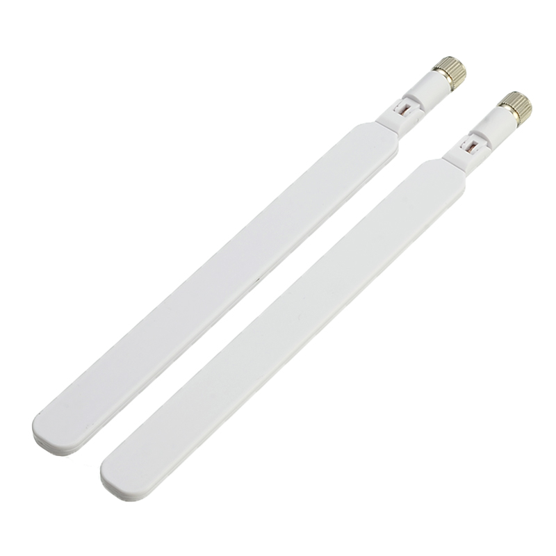 2pcs/set Router Antenna 4G Antenna SMA Male For 4G LTE Router External Antenna For Huawei B593S B880 B310 700-2690MHz White