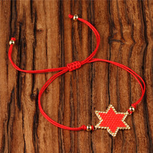 Trendy Star Rope Chain Bracelet Women Miyuki Seed Bead Handmade Red Lucky Little  Bracelets Girl Friendship Jewelry Pulsera Gift