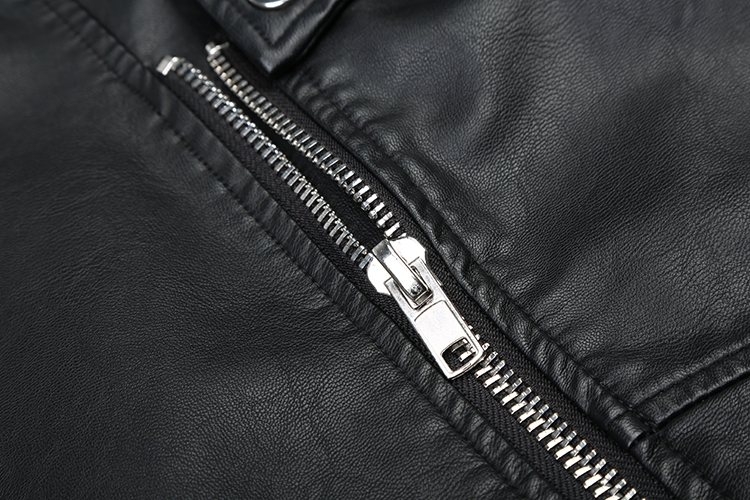 Mode See Mince Moto De Collier Base Pu Veste Streetwear Manteau Nouvelle Cuir Européen vers Bas Le Femmes Tour Motard En Outwear Chart Style F1O7Haqg