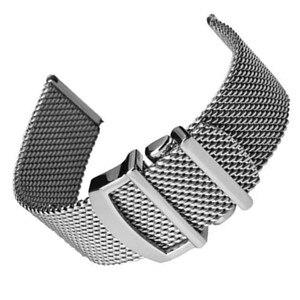 Paslanmaz çelik tel örgü kemer gümüş milanese kayış yedek erkek saati bant mühendisi Serisi IWC için 20mm 22mm