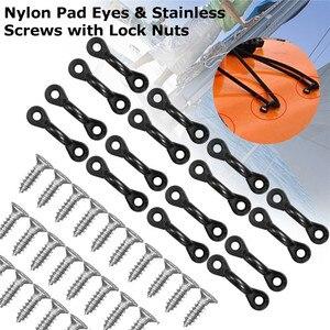 30Pcs Kayak Nylon Pad Eyes + 6