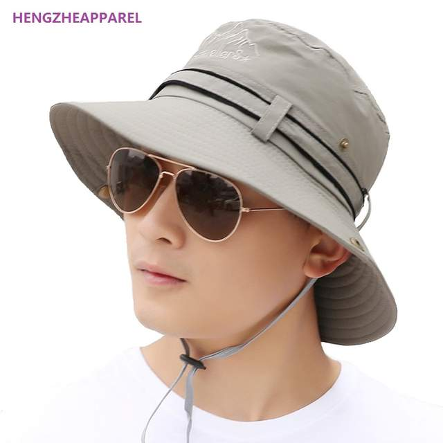 9ef10a5aa38 2018 New Spring Men women Travel Cap Sun Hats Summer Fashion Men Bucket Hat  Holiday Seaside