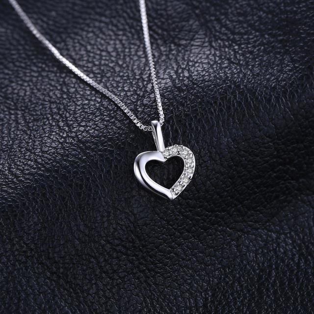 Glimmering Love Heart Necklace