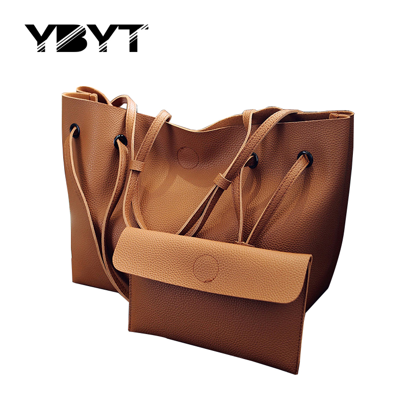 YBYT brand 2017 new bucket soft handbags hotsale fashion PU leather vintage women satchel lady shoulder messenger crossbody bags
