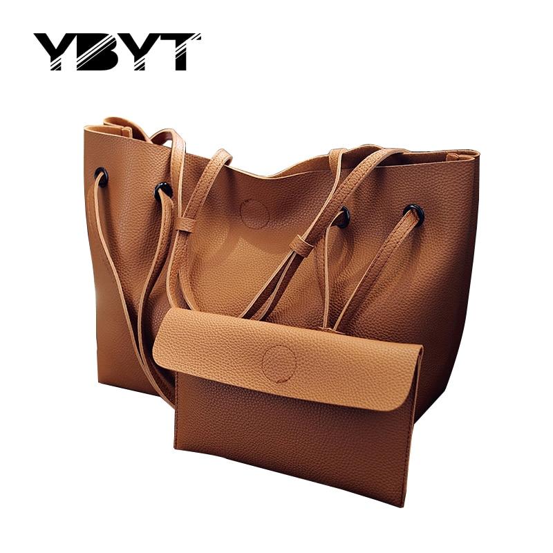 YBYT brand 2017 new bucket soft handbags hotsale fashion PU leather vintage women satchel lady shoulder messenger crossbody bags