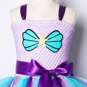 Image 5 - 女の子マーメイドチュチュドレスカチューシャドレス下で誕生日のテーマパーティードレス子供のためのガールプリンセスマーメイド衣装