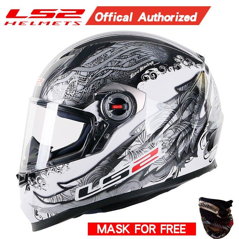 Original LS2 FF358 casque moto rcycle intégral ls2 moto cross racing casco moto casque capacete ls2 ECE approuvé sans pompe