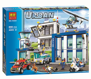 Image 5 - Bela 10424 City Police Station motorbike helicopter Model building kits compatible with  city 60047 blocks Educational toys