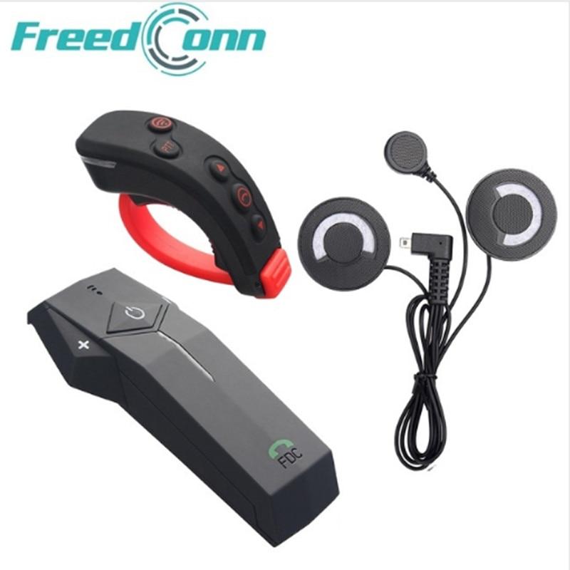 FreedConn COLO-RC Moto Casque Bluetooth Interphone Casque NFC Fonction FM Avec Doux Écouteurs + Télécommande