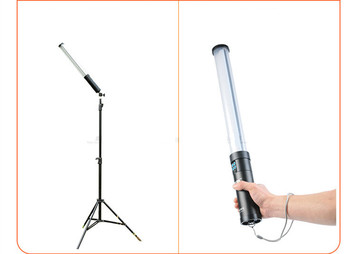LED Video Light Wand Ice Light Photo Lighting Kit ,  Adjustable Color Temperature 3000K-6000KCD50