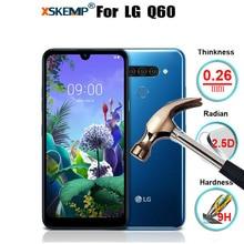XSKEMP מזג זכוכית עבור LG Q60 פרימיום אמיתי אמיתי טלפון מזג זכוכית מסך מגן מגן נגד לנפץ סרט כיסוי