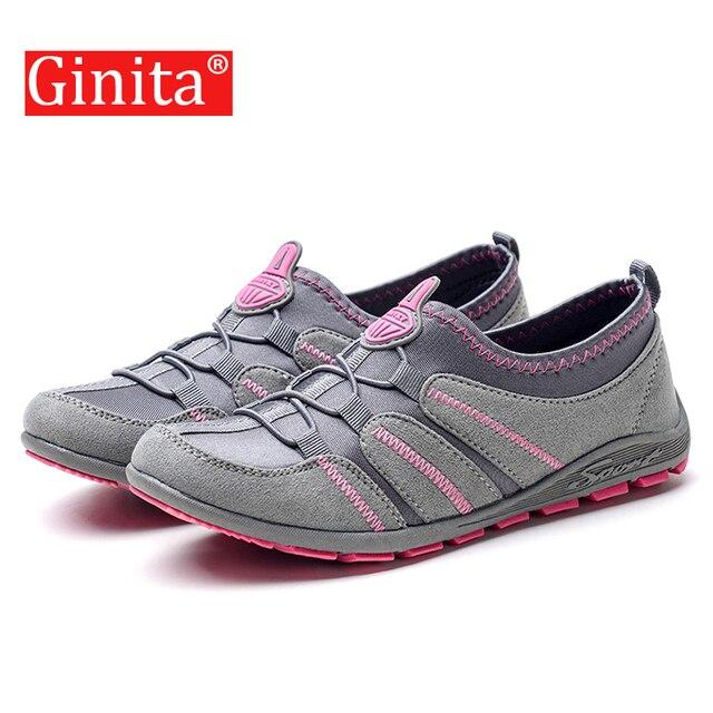 Ginita Mùa Xuân 2019 Flat Dành Cho Nữ Thoải Mái Nữ Giày Nữ Đế Bằng Thun Nữ Giày zapatillas mujer