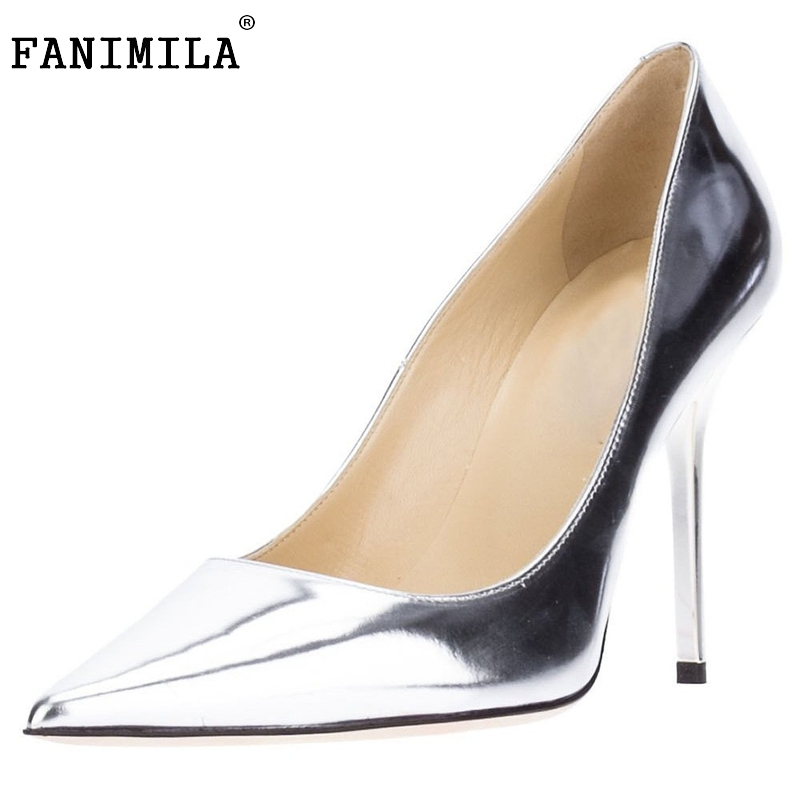 Women Pointed Toe High Heel Shoes Patent Leather Office Lady Shoes Woman Sexy Dress Pumps Heels Heeled Footwear Size 35-46 B223 lady plus size 35 46 sexy mesh patching customized luxury diamond pointed toe genuine leather high heels shoes women pumps party