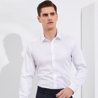Men's Classic Non Iron Standard fit Long Sleeve Dress Shirt Comfortable 100% Cotton Formal Business Easy Care Basic Shirts